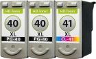 Set Patronen Canon 2x PG-40 + CL-41 XL Refill