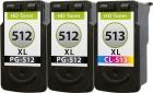 Set Druckerpatronen Canon 2x PG-512 + CL-513 Refill