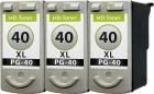 Set Patronen Canon 3x PG-40 XL Refill