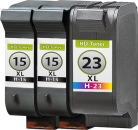 Set Alternativ HP Patronen 2x HP 15 C6615DE 42ml + HP 23 C1823DE