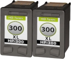 Set 2x Alternativ HP Patronen 300xl 300 Schwarz