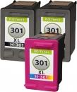 Alternativ Set Druckerpatronen HP 301 301xl Schwarz + Color