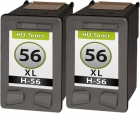 Alternativ Patronen Set 2x HP 56 Schwarz