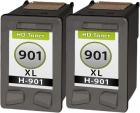 Set Alternativ HP Patronen 2x 901 901XL Schwarz