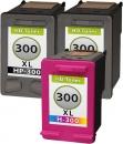 Set Alternativ HP Patronen 300xl 2x Schwarz + Color