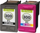 Set Alternativ HP Patronen 300xl  Schwarz + Color