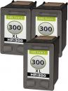 Set 3x Alternativ HP Patronen 300xl 300 Schwarz