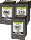 Set Alternativ HP Patronen 3x 901 901XL Schwarz