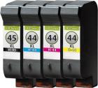 Set Alternativ Patronen HP 45 + 3x HP 44 Refill