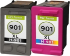 Set Alternativ HP Patronen 901 901XL Schwarz + Color