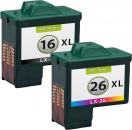 Alternativ Lexmark Patronen 16 + 26 Refill
