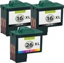 Alternativ Lexmark Patronen 2x 16 + 26 Refill