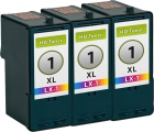 Set 3x Alternativ Lexmark Patronen 1