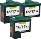 Alternativ Lexmark Patronen 3x 16 17 Refill