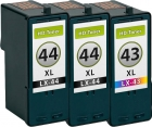 Alternativ Lexmark Patronen 43 + 2x 44 Set Refill