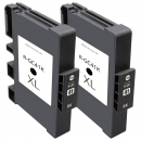 Set 2x Alternativ Ricoh Patronen GC-41K 405761 Schwarz