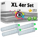 Set 4x Alternativ Ricoh Toner 841992 / Type 6210D Schwarz