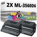 2x Alternativ Samsung Toner ML-3560D6 Schwarz Set