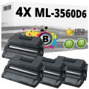 4x Alternativ Samsung Toner ML-3560D6 Schwarz Set