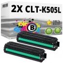 2x Alternativ Samsung Toner CLT-K505L Schwarz