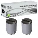 2xAlternativ Samsung Toner CLP K300A Schwarz