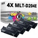 4x Alternativ Samsung Toner D204E Schwarz