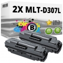 Set 2x Alternativ Samsung Toner D307L Schwarz