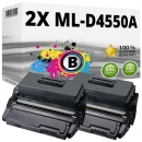 2x Alternativ Samsung Toner ML-D4550A Schwarz Set