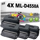 4x Alternativ Samsung Toner ML-D4550A Schwarz Set