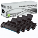 4x Alternativ Samsung Toner SCX4521 SCX 4521D3 Set