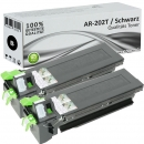2x Alternativ Sharp Toner AR-202LT Schwarz
