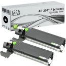 2x Alternativ Sharp Toner AR-208T Schwarz