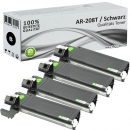 4x Alternativ Sharp Toner AR-208T  Schwarz