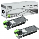 2x Alternativ Sharp Toner AR-270T Schwarz