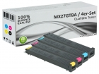 4x Alternativ Sharp Toner MX27GT Set Mehrfarbig