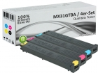 4x Alternativ Sharp Toner MX31GT Set Mehrfarbig