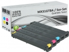 5x Alternativ Sharp Toner MX31GT Set Mehrfarbig