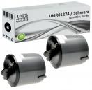 2x Alternativ Xerox Toner 106R01274 Schwarz