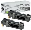 2x Alternativ Xerox Toner 106R01281 Schwarz