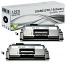 2x Alternativ Xerox Toner 106R01370 Schwarz
