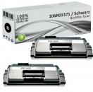 2x Alternativ Xerox Toner 106R01371 Schwarz