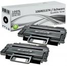 2x Alternativ Xerox Toner 106R01374 Schwarz