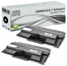 2x Alternativ Xerox Toner 106R01412 Schwarz