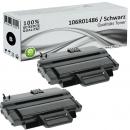 2x Alternativ Xerox Toner 106R01486 Schwarz