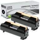 2x Alternativ Xerox Toner 106R01533 Schwarz