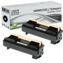 2x Alternativ Xerox Toner 106R01535 Schwarz
