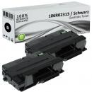 2x Alternativ Xerox Toner 106R02313 Set Schwarz
