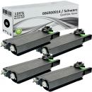 4x Alternativ Xerox Toner 006R00914 Set Schwarz