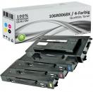 4x Alternativ Xerox Toner 106R0068X Mehrfarbig