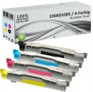 4x Alternativ Xerox Toner 106R0108X Mehrfarbig